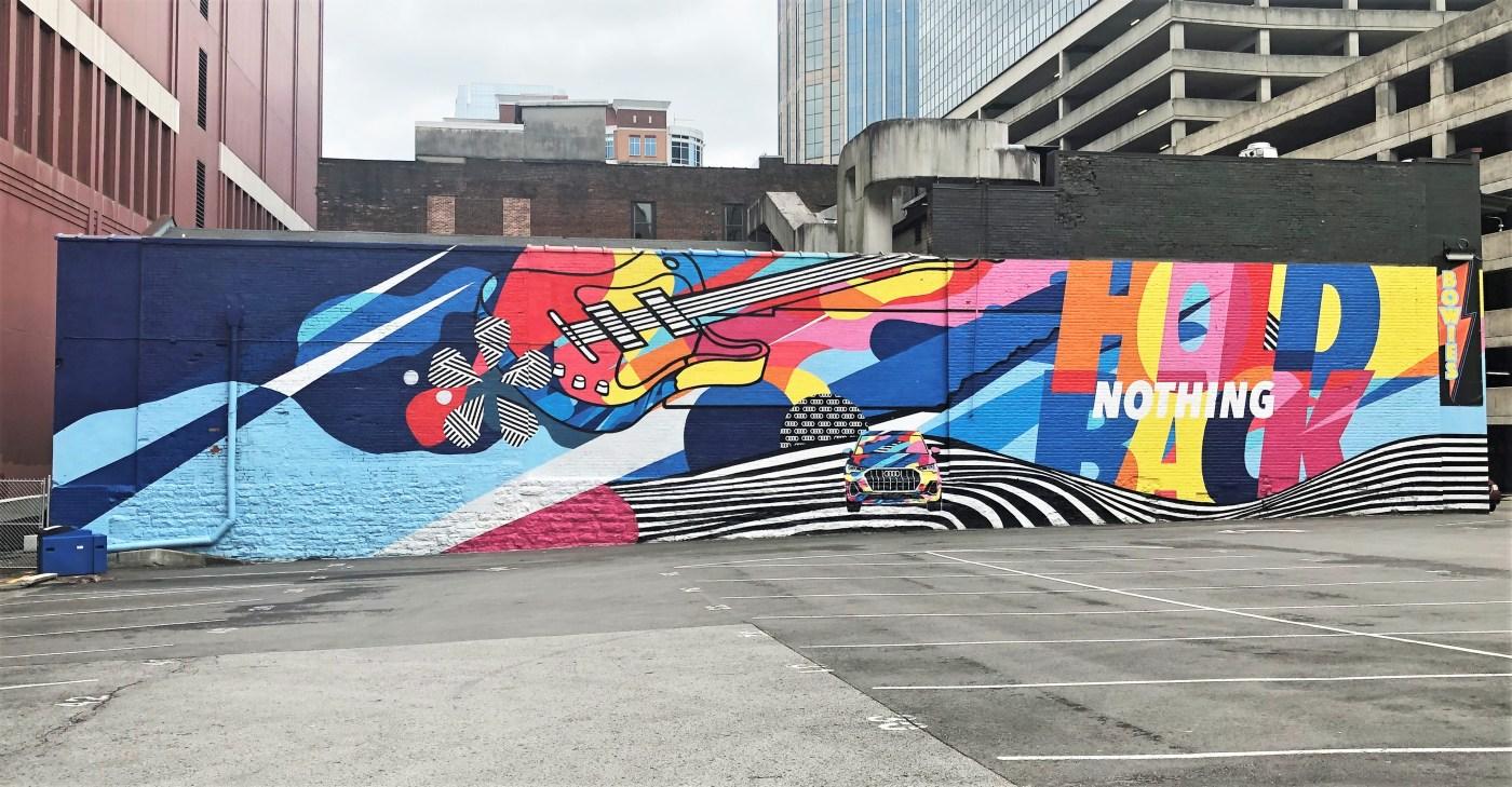 Audi Mural guitar Nashville street art
