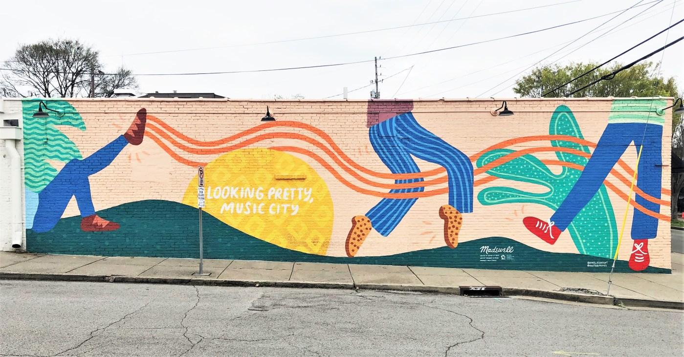 Madewell Mural Nashville street art