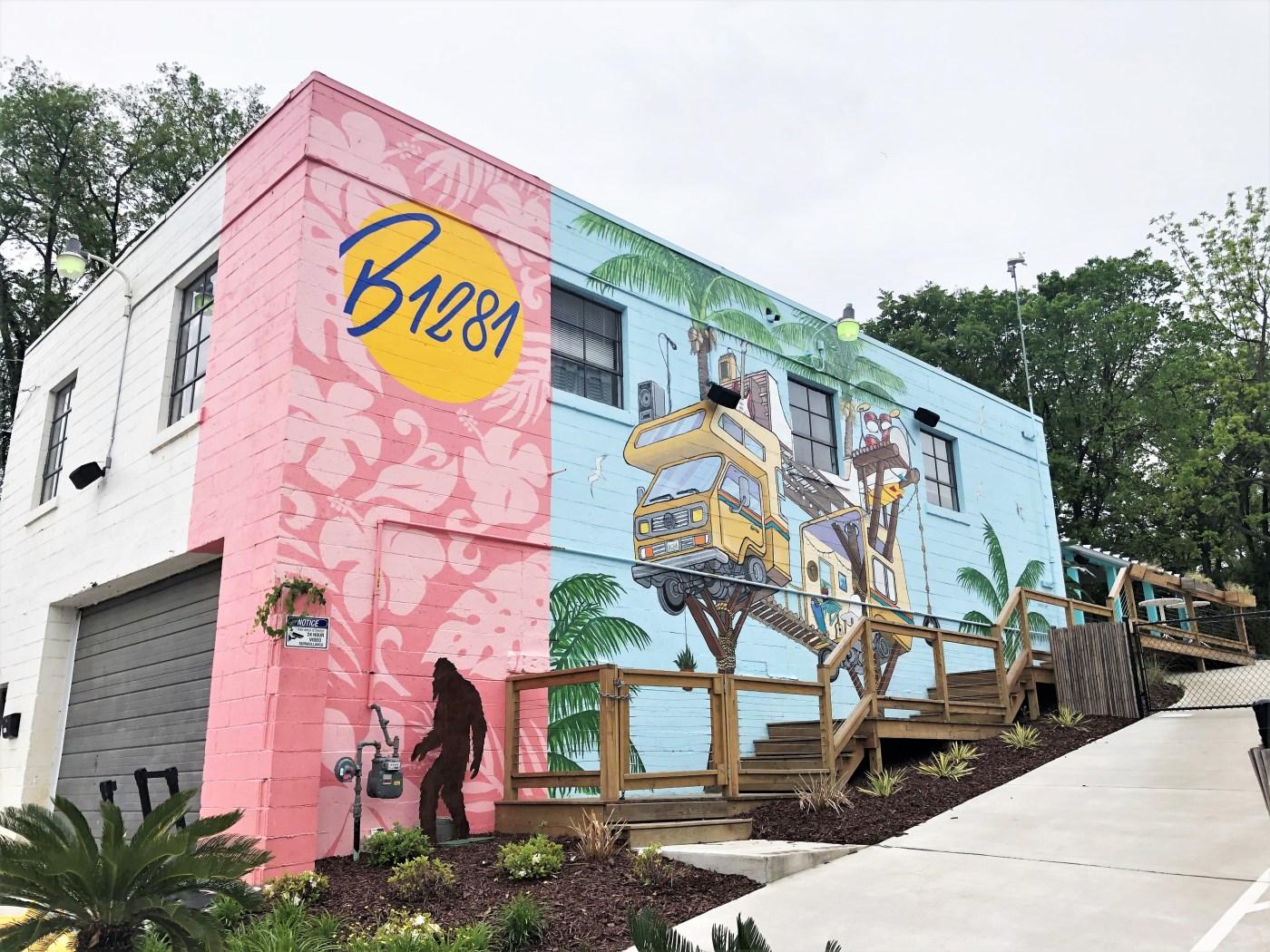 Camper van mural Nashville street art