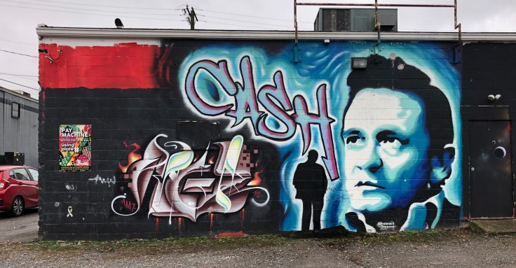 Johnny Cash Mural Nashville Street art