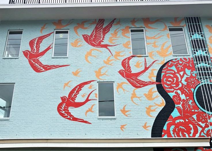 Radford Birds mural Nashville street art