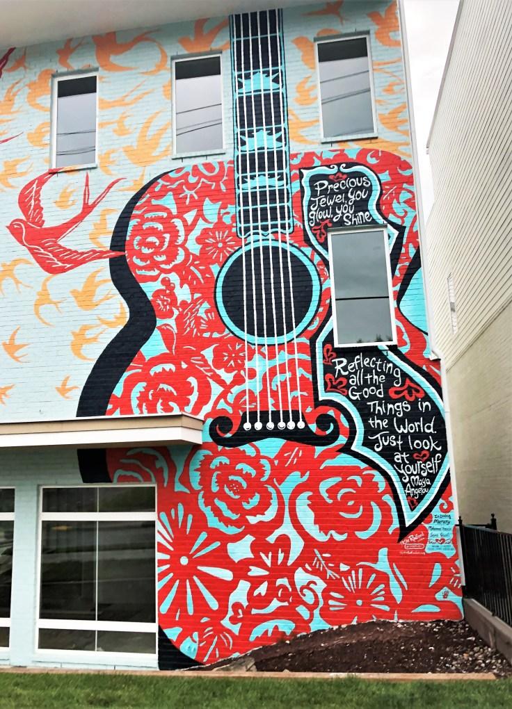 Radford Guitar mural Nashville street art