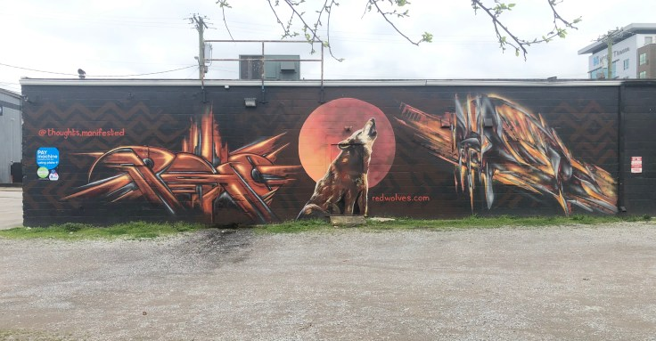 Red Wolves mural Nashville Street art
