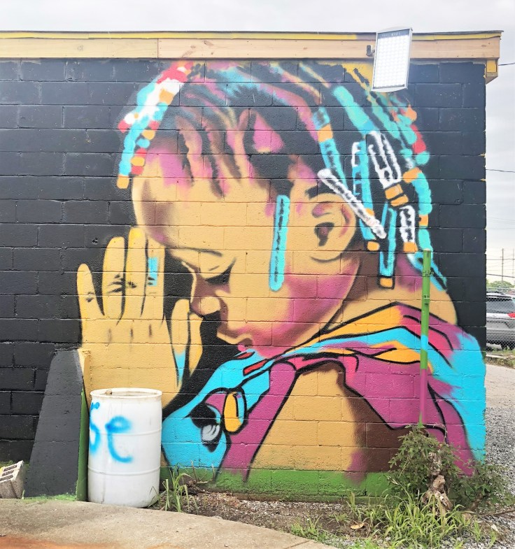 Praying Girl Mural Nashville street art