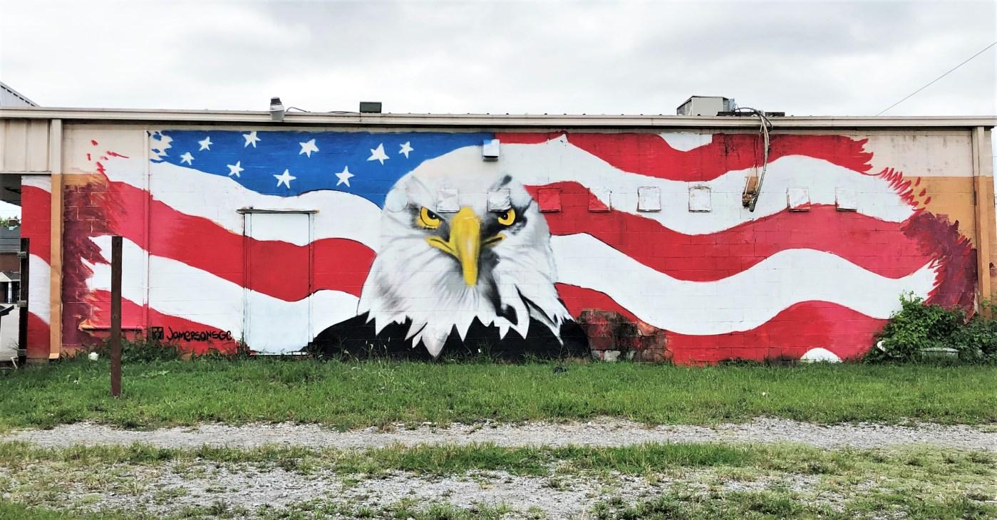 Eagle Mural Nashville street art