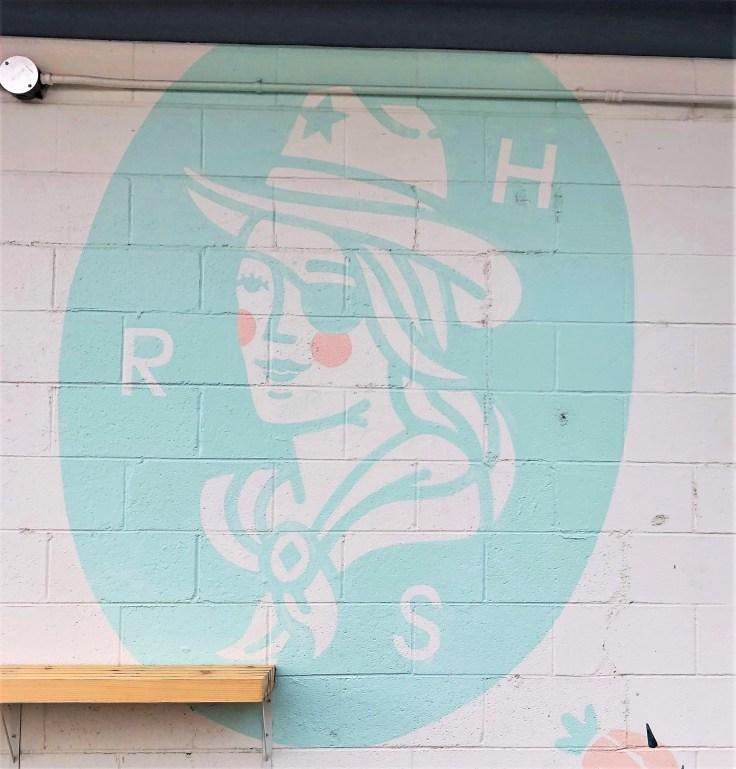 RedHeaded Face mural Nashville street art