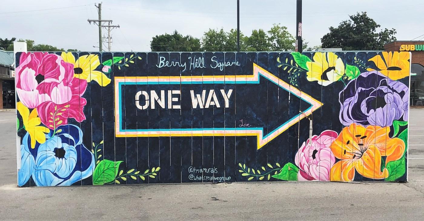 One Way Mural Nashville street art
