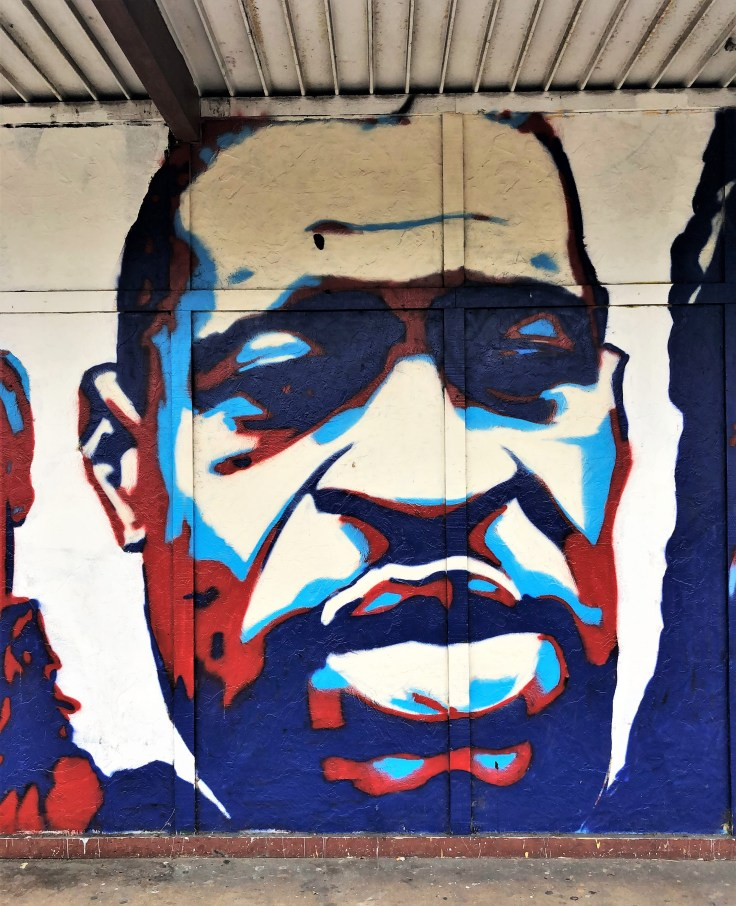 George Floyd mural Nashville street art
