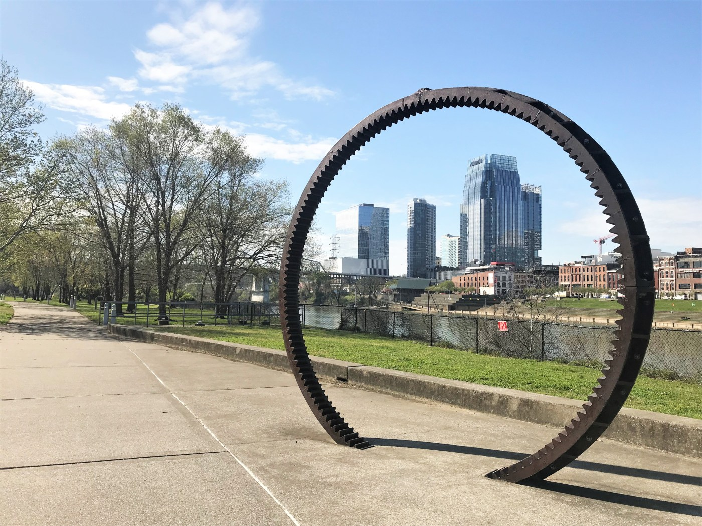 Threshold Ring sculpture Nashville street art