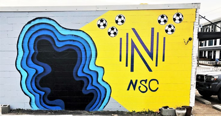 Nashville Soccer Mural street art