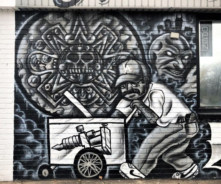 Ice Cream Man mural Nashville street art
