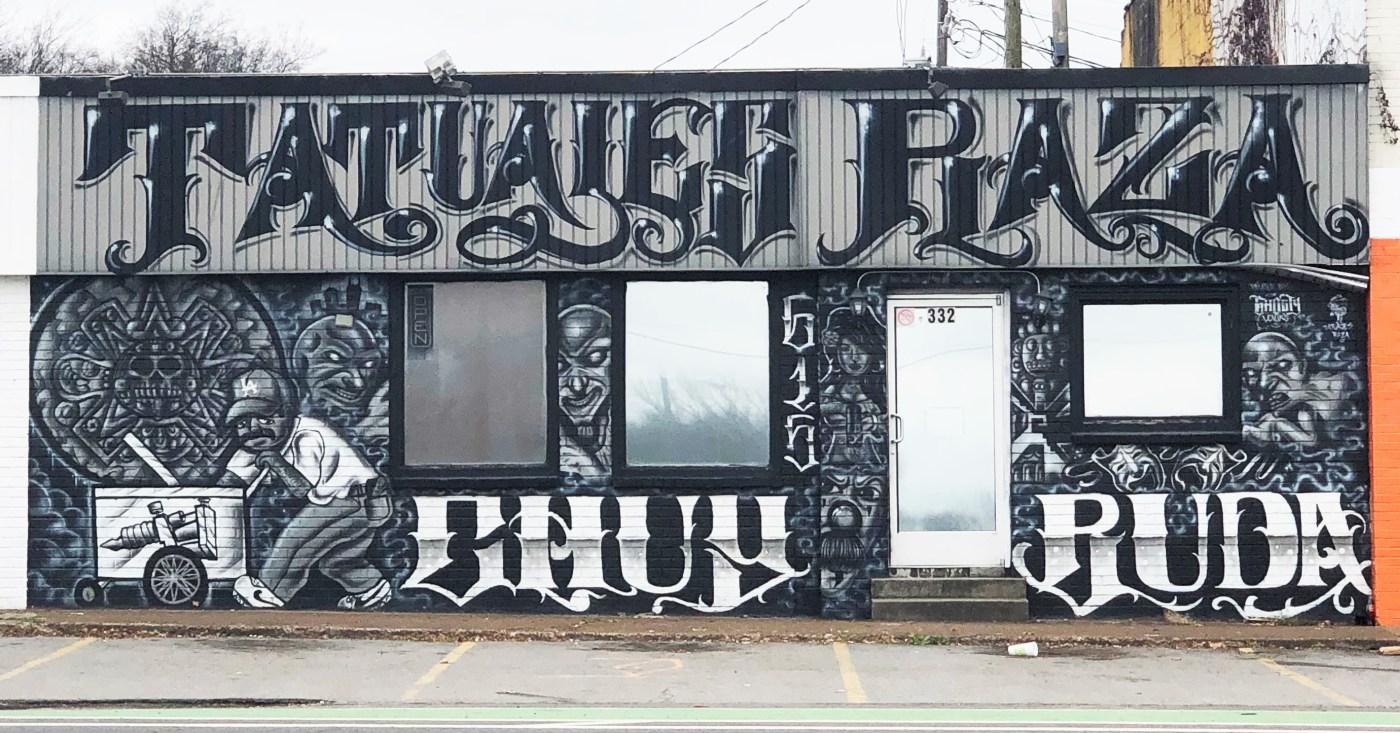 Tatuajes Raza mural Nashville street art