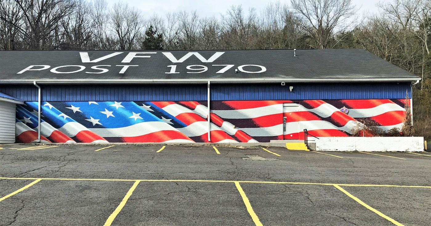 VFW Flag mural Nashville street art