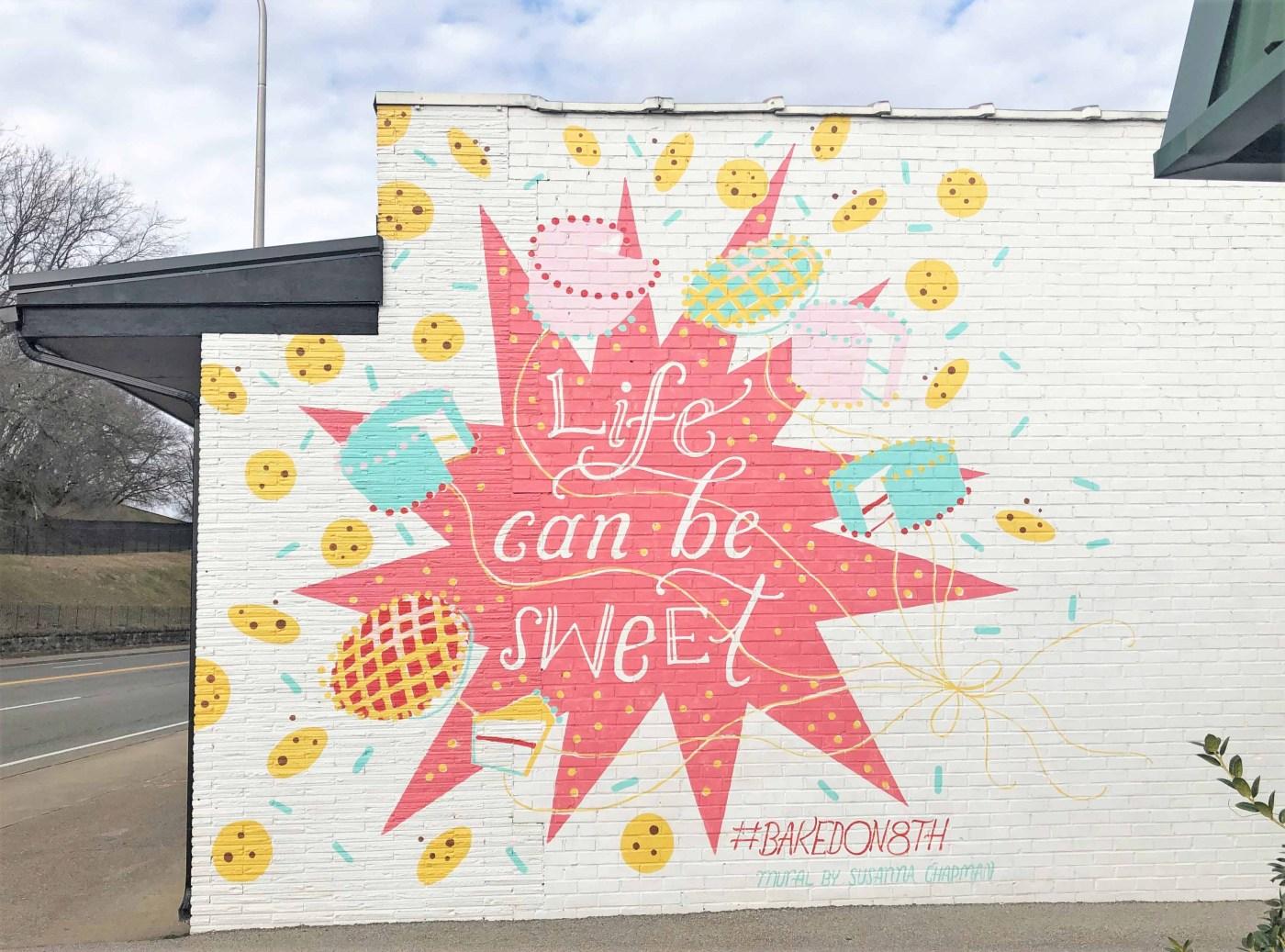 Baked on Eighth mural street art Nashville
