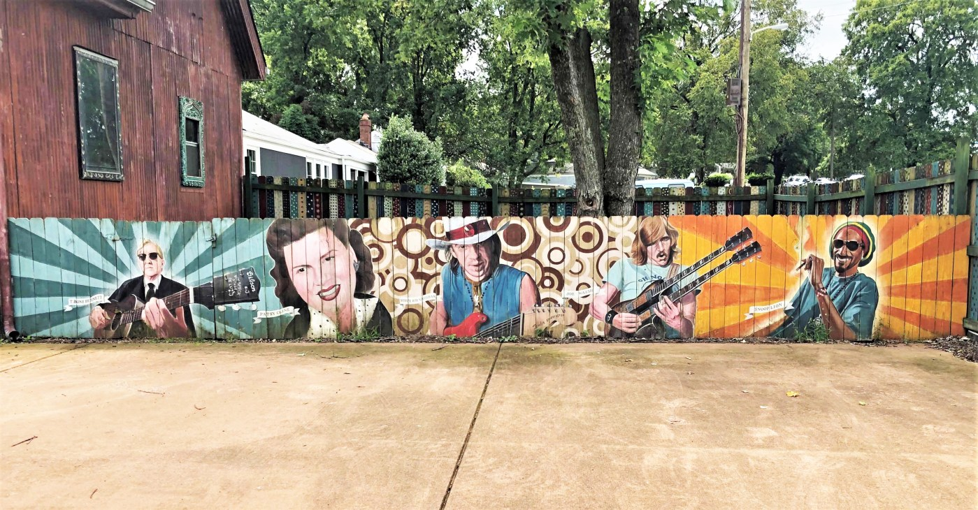 Berry Hill Faces Mural Nashville street art