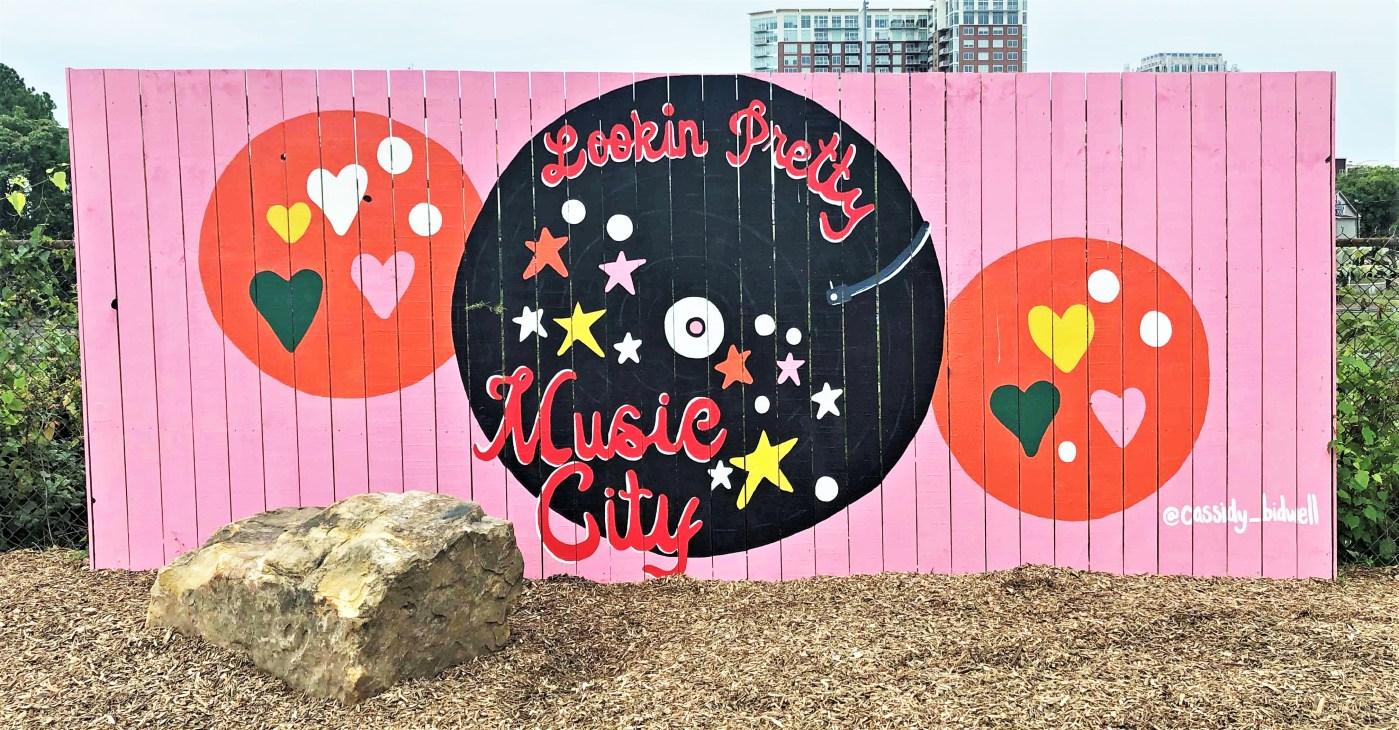 Gulch Dog Park Mural Nashville street art