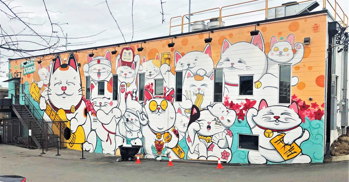 Hawkers Mural Nashville Street art