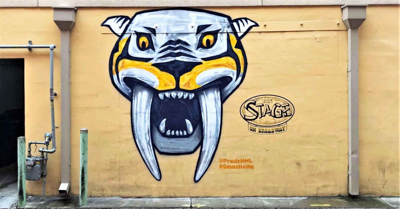 Smashville Predator mural Nashville street art