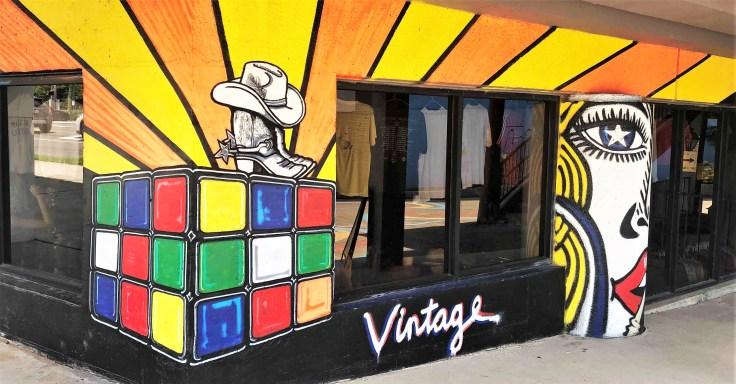 Vintage mural Nashville streert art