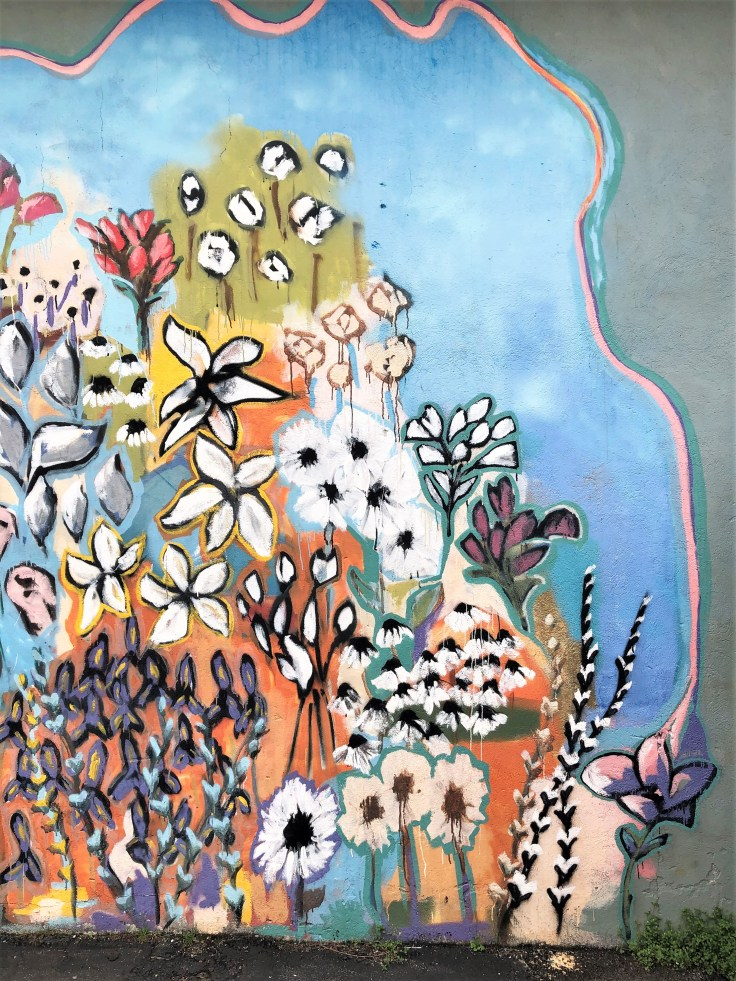 Flower mural Nashville street art