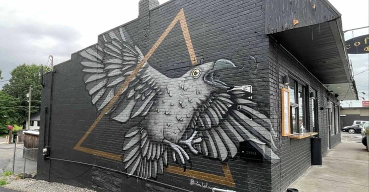 Elegy Bird mural Nashville street art