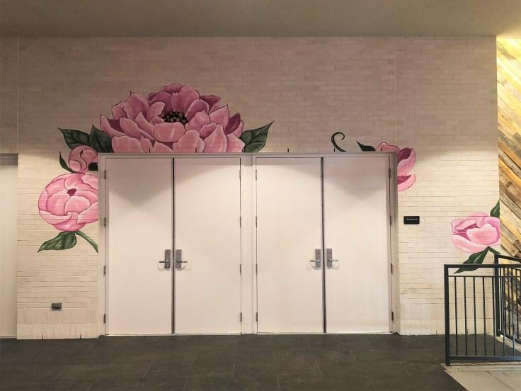 Pink Flowers Nashville street art