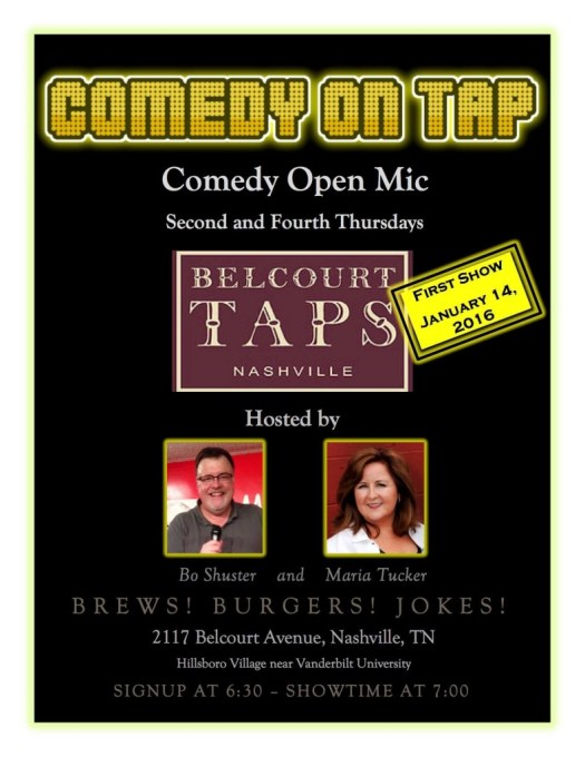 Comedy On Tap OPEN MIC - 2nd & 4th Thursdays at Belcourt Taps.