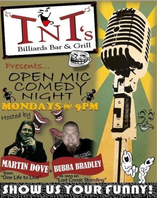 TNT open mic - 9pm Mondays