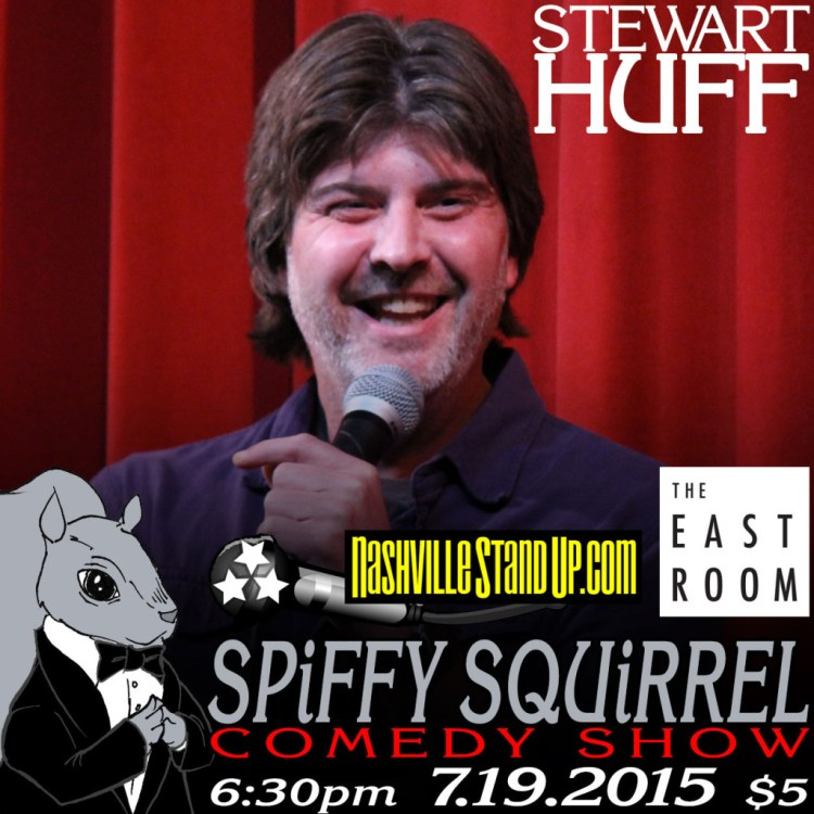 Stewart Huff with Krish Mohan & Jim Seward at SPiFFY SQUiRREL comedy show at The East Room 7/19/2015.