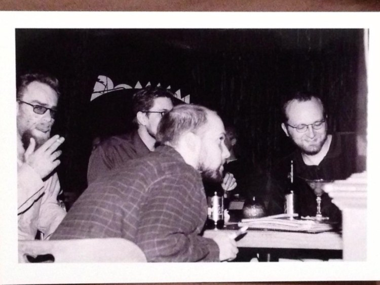 L-R: Craig Smith, Ryan Williams, Jesse Perry, Chad Riden at The Cantina / Bar Car, circa 2003-4. Photo credit: Candice Self-Perry.
