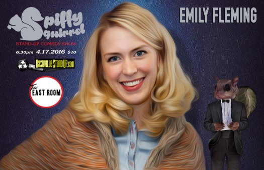 Emily Fleming at Spiffy Squirrel comedy show 4/17/2016