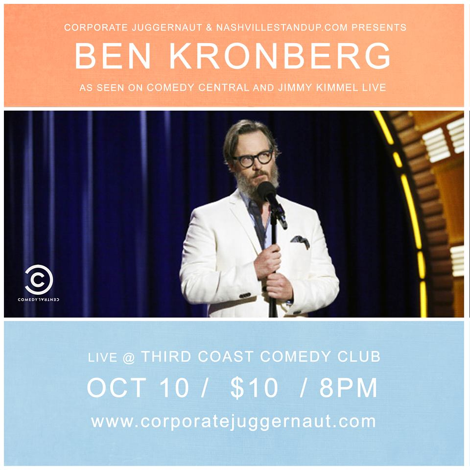 Ben Kronberg at Third Coast Comedy Club Monday 10/10/2016!