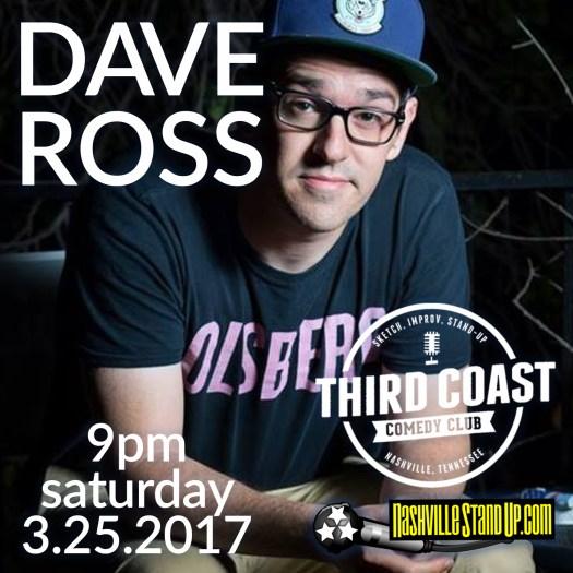 Dave Ross (Drunk History, Nerdist, IFC) & friends at Third Coast Comedy Club 9pm sat 3/25/2017.