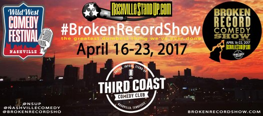 #BrokenRecordShow world record breaking stand-up, sketch and improv comedy at Third Coast Comedy Club April 16-23, 2017