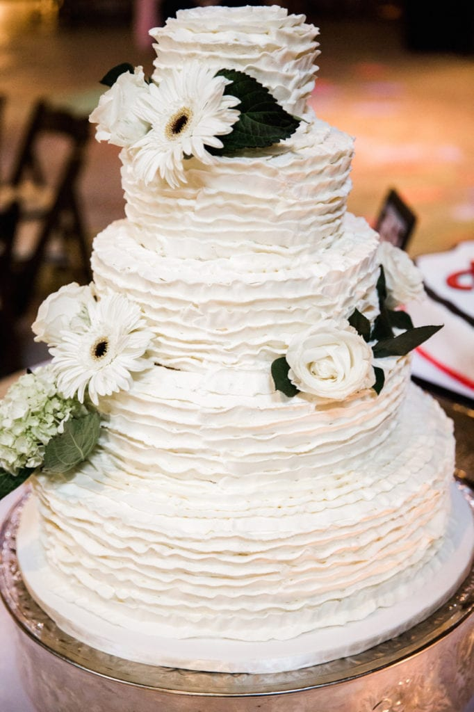 Nashville Sweets Buttercream Ruffles Wedding Cake