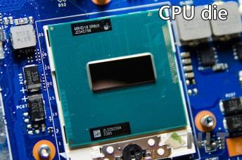 CPU die