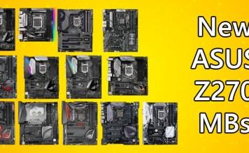 ASUS Z270 Motherboards