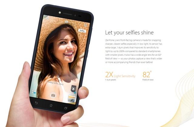 ASUS ZenFone Live selfie
