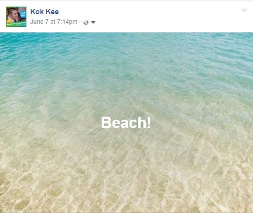 Facebook Background Posts beach