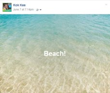 Facebook Background Posts beach