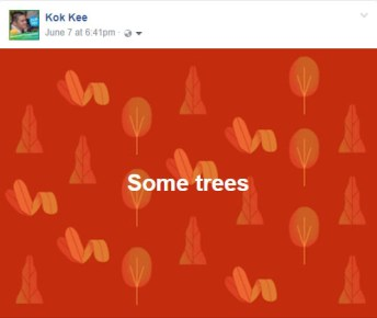 Facebook Background Posts trees