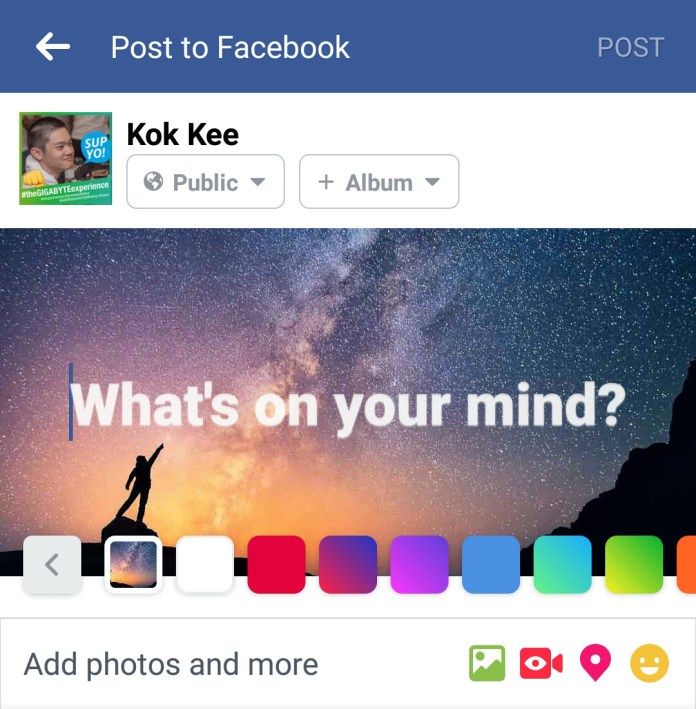 Facebook Background Posts Galaxy