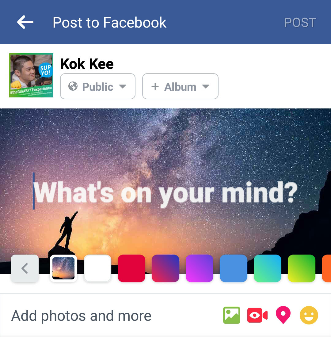 UPDATED] Facebook Background Posts Are Here