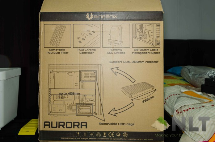 BitFenix Aurora rear box