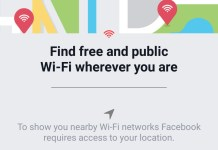 Facebook Find Free WiFi