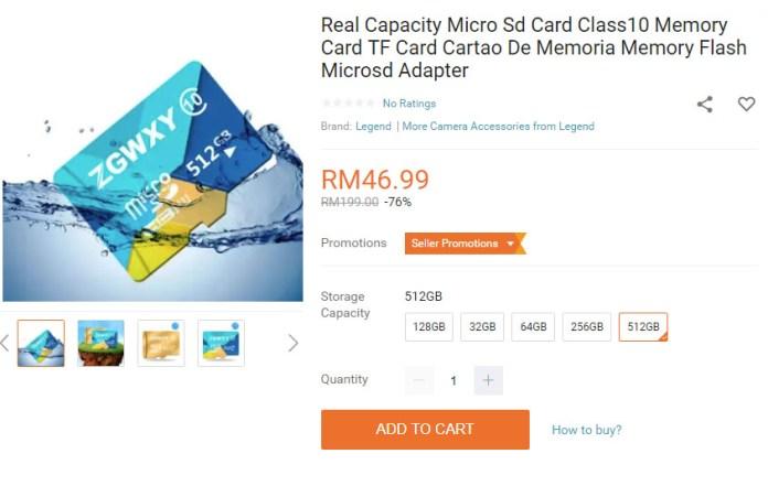 Lazada Scam microSD card