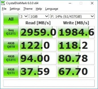Plextor M9PeY CrystalDiskMark random fill