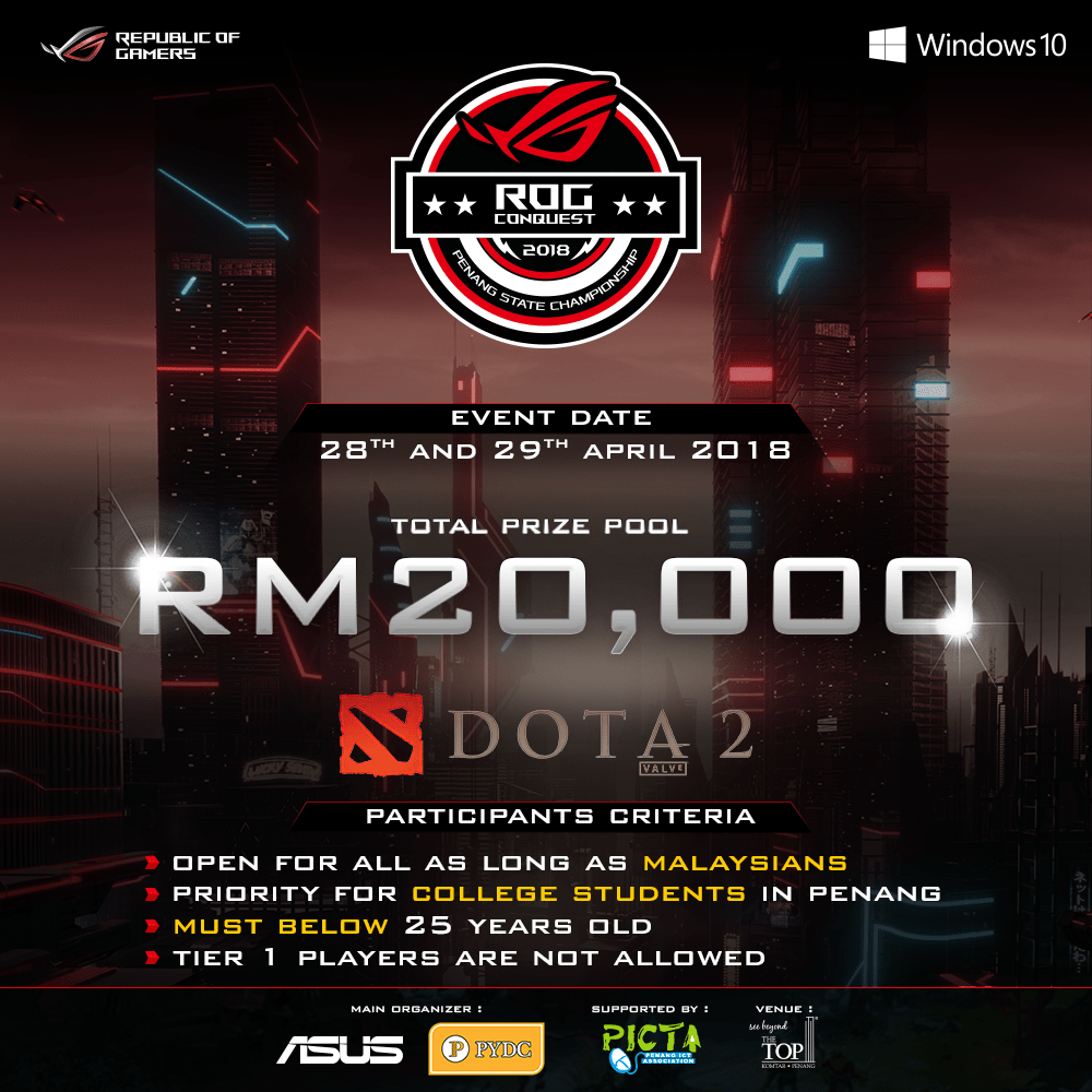 ROG Conquest Penang State Championship 2018