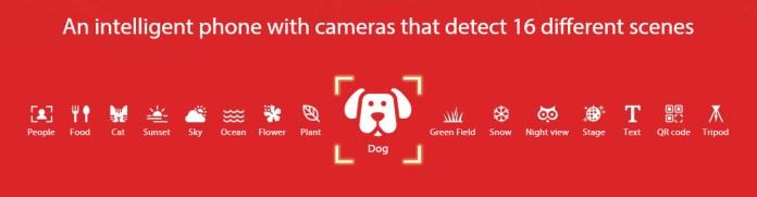 ASUS ZenFone 5 AI Scene Detection camera
