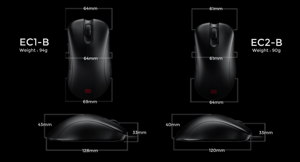 Overview - Entire Family of ZOWIE Mouse For eSports